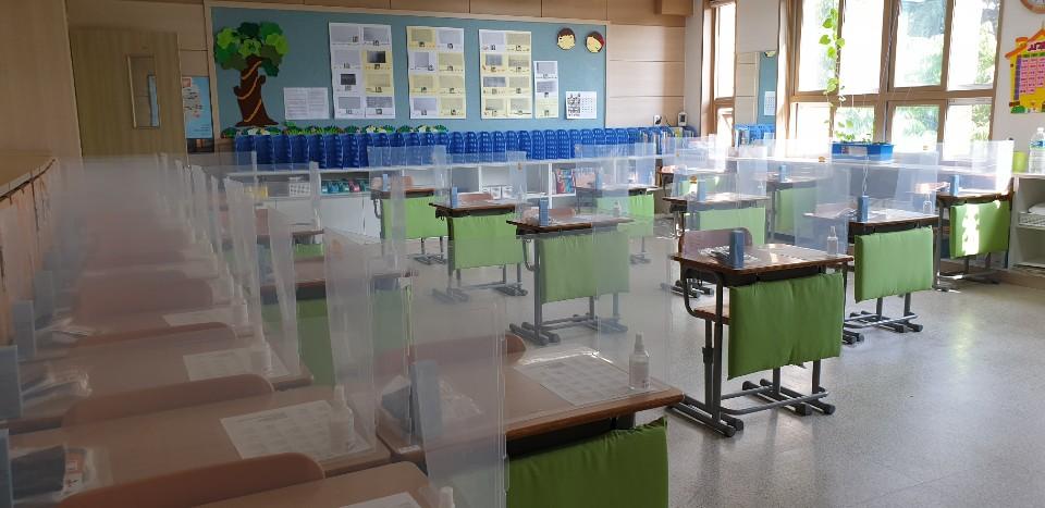 Ruang kelas sekolah di korea selatan